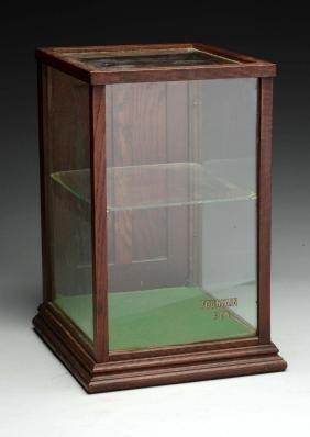 Oak Wood & Glass Fountain Pen Display Case.