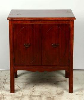 Wood Music Box Cabinet.