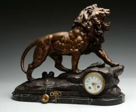 French Lion Clock.