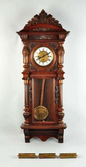 Three weight Vienna Regulator Clock.
