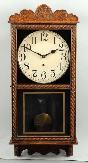 Carved Wall Clock.