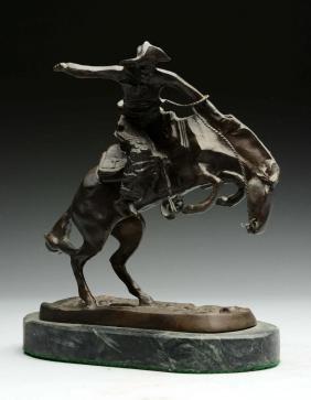 Remington Bronze Cowboy on Horse.