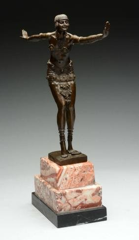 Figural Bronze of Middle Eastern Lady.