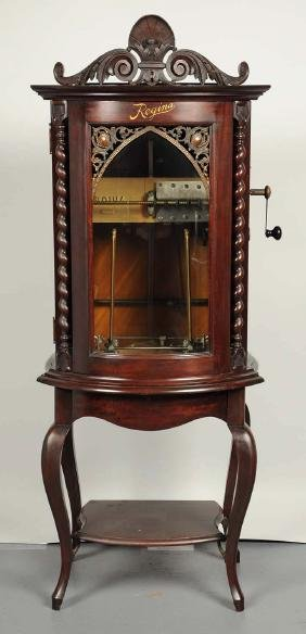 Regina Bow Front Automatic Changer Music Box.