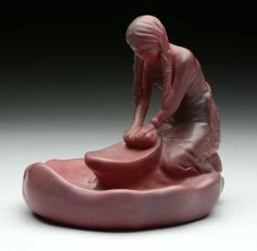 Figural Native American Maiden Piece.