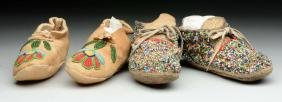 Lot of 2: Pairs of Children's Plains Moccasins.