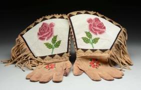 Lot of 2: Plateau Native American Gauntlets.