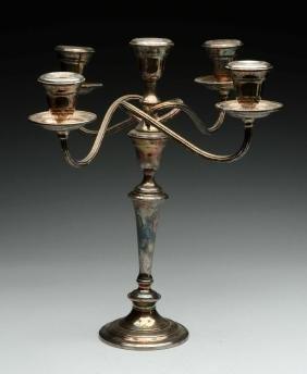 Pair of Gorham Silver Candlesticks.
