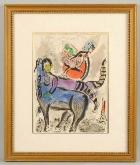 Chagall Abstract Painting.