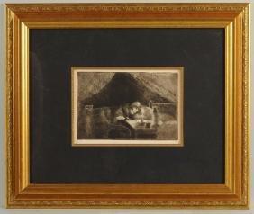 Jacob Camille Pissarro Grand'mere (effet de lumiere).