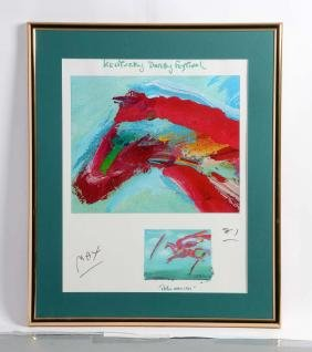 Peter Max Serigraph of the Kentucky Derby.