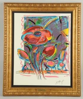 Peter Max Untitled Flowers.