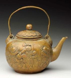 Japanese Brass Teapot.