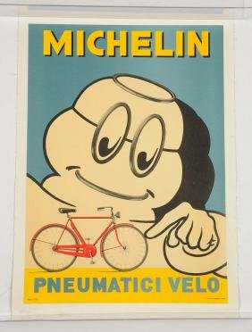 Michelin Pneumatici Velo Poster.