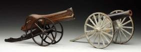Lot Of 2: Cast Iron Cannons.