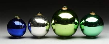 Lot Of 3 Kugel Christmas Ornaments