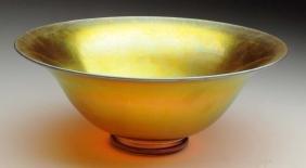Large Gold Aurene Bowl.