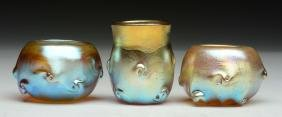 Lot of 3: Signed Tiffany Glass Pieces.