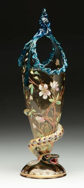 Moser Serpent Vase.