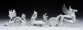 Lot of 4: Swarovski Fabulous Creatures & Stand.