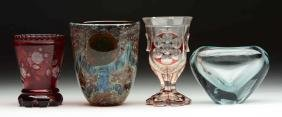 Lot Of 4: Bohemian Goblets.