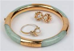 Lot Of 3: 10K & 14K Gold Jewelry Pieces.
