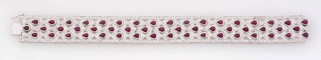 Platinum Diamond & Ruby Bracelet.