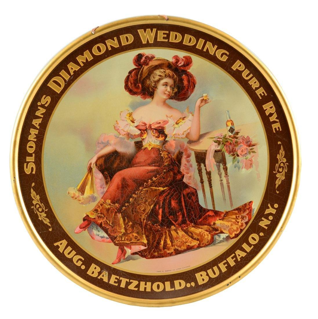 Sloman's Diamond Wedding Pure Rye Sign.