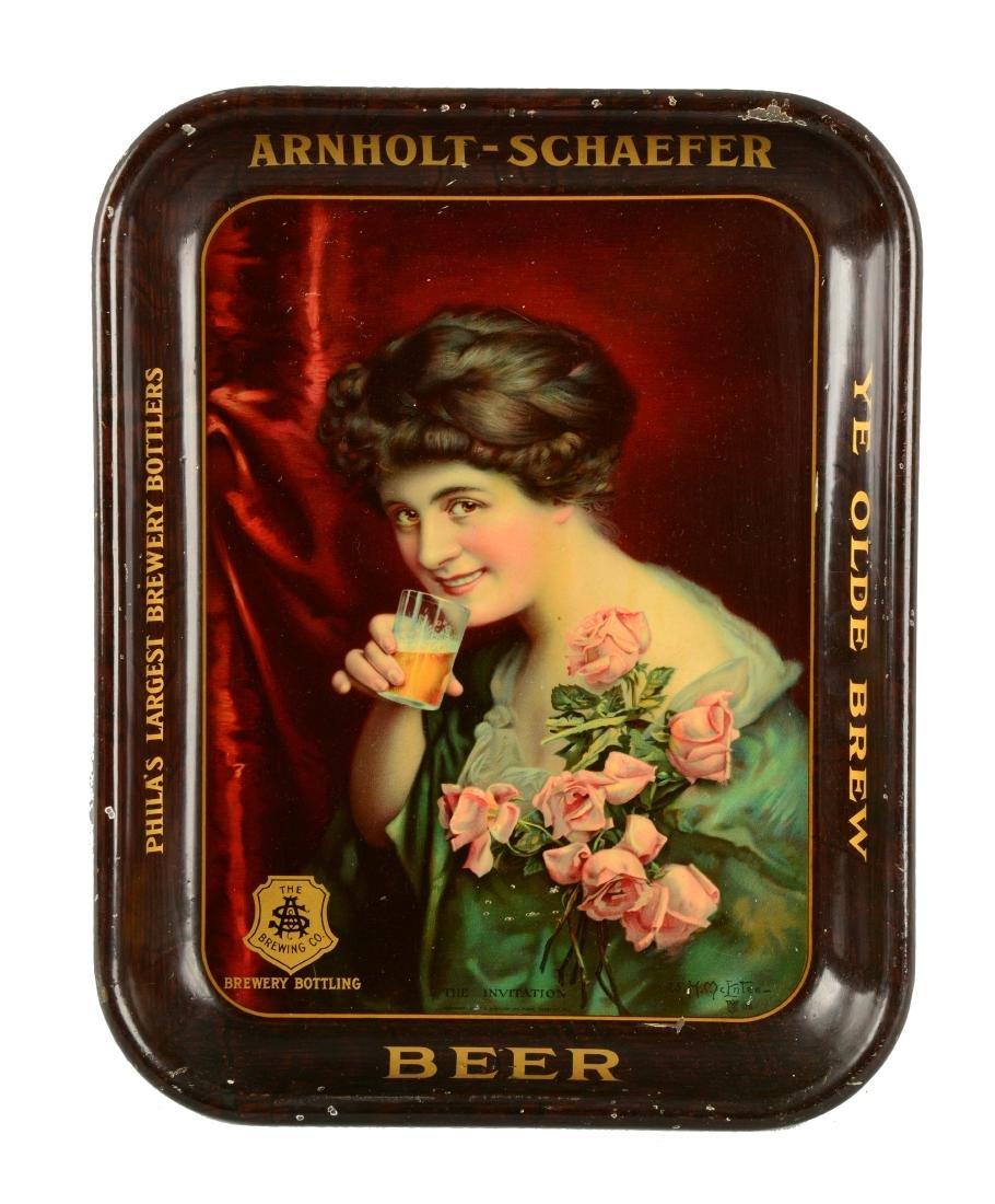 Arnholt-Schaeffer Beer Serving Tray.