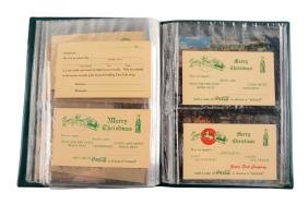 Book Of Assorted Coca - Cola Postcards & Envelopes.