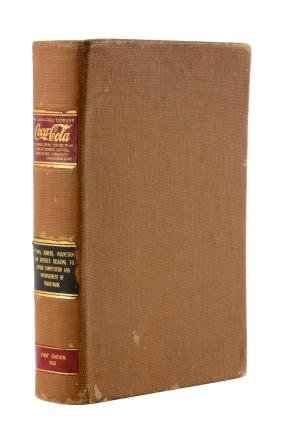 1923 Coca - Cola Legal Opinions & Injunctions Book.