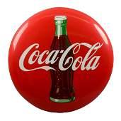 Large CocaCola Porcelain Button Sign