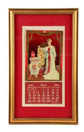 1904 Coca - Cola Advertising Calendar.