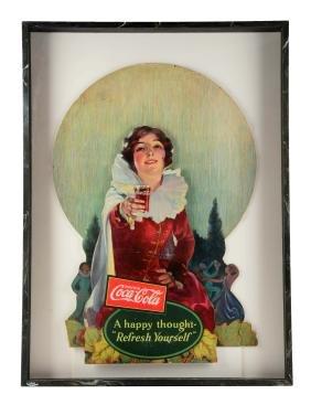 1926 Coca - Cola Diecut Window Display.