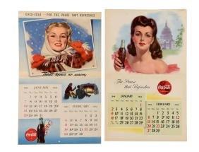 1944 & 1945 Coca - Cola Calendars.
