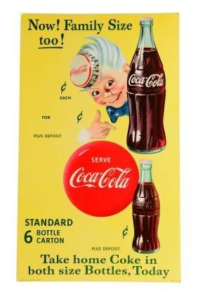 Cardboard Coca - Cola Sprite Boy Cardboard Sign.