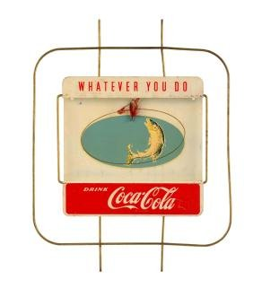 Coca - Cola Fishing Motif Festoon Element.