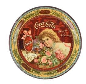 1901 Coca - Cola Tin Tip Tray.