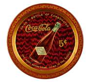 1903 Coca-Cola Bottle 5¢ Tip Tray.