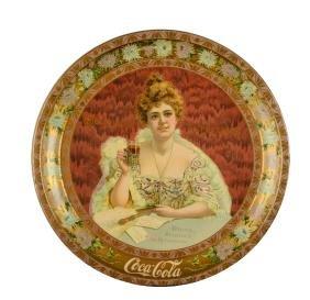 1903 Coca-Cola Delicious Refreshing Serving Tray.