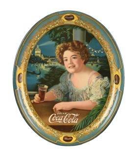 1909 Coca - Cola Oval Serving Tray.