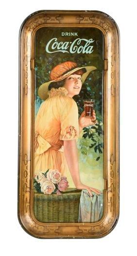 1916 Drink Coca - Cola Tin Tray.