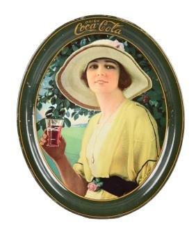1920 Drink Coca - Cola Tin Serving Tray.