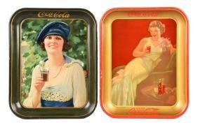 1921 & 1936 Coca - Cola Tin Trays.