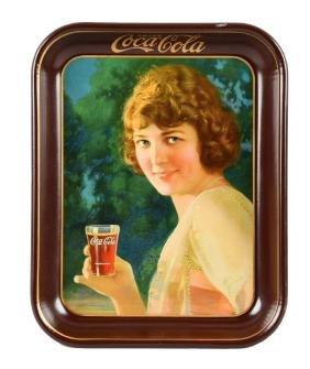 1924 Coca - Cola Advertising Tin Tray.