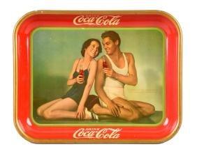 1934 Coca - Cola Tin Advertising Tray.