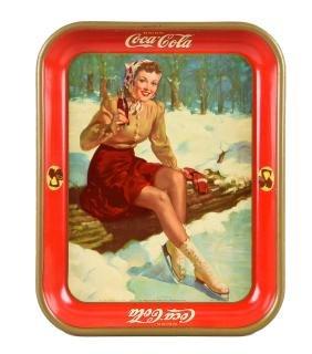 1941 Coca - Cola Tin Advertising Tray.
