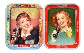 Lot Of 2: Vintage Coca - Cola Tin Trays.