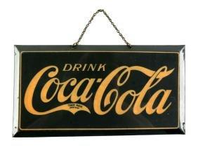 1920's Coca-Cola Celluloid Over Tin Advertising Sign.