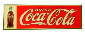 1934 Embossed Tin Coca - Cola Advertising Sign.